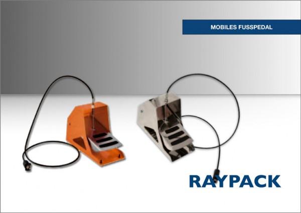 Mobiles Fußpedal mit Bowdenzug für Folienschweißgerät Raypack